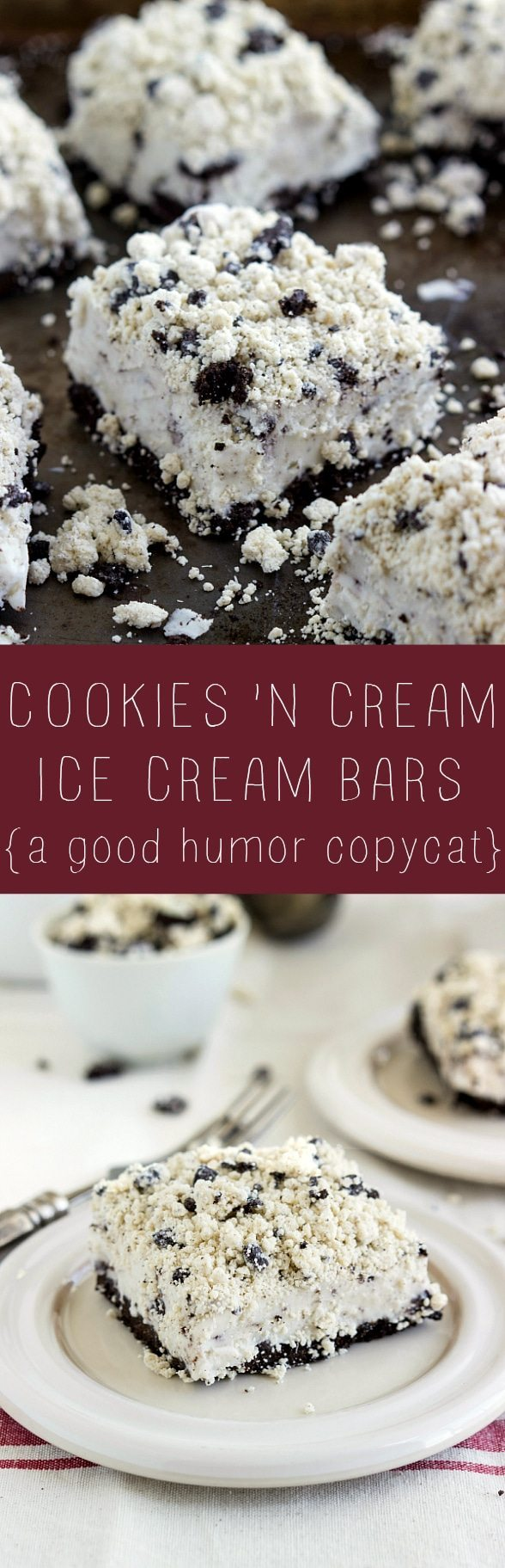 The BEST cookies and cream ice cream bars - a good humor treat copycat! #icecream #easy #dessert