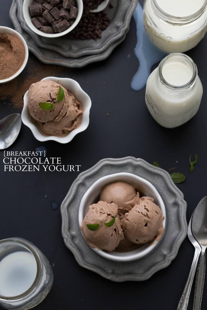 Breakfast Chocolate Frozen Yogurt I via chelseasmessyapron.com