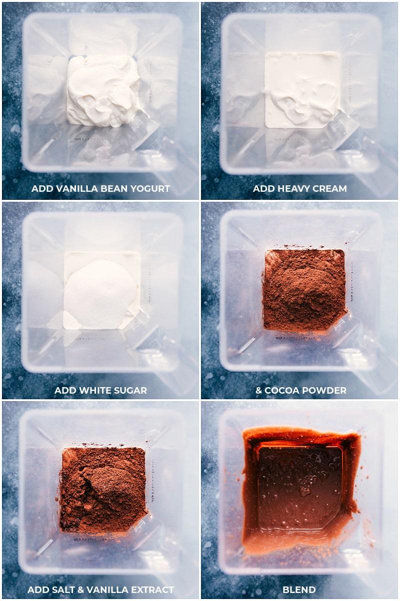 Ingredients in the blender