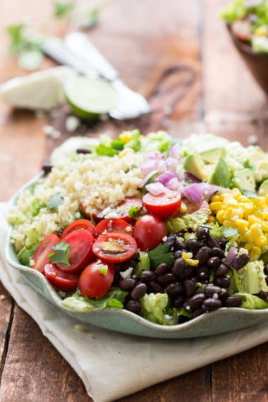 Tex Mex Quinoa Salad with a Cilantro-Lime Vinaigrette