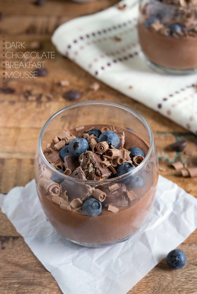 Breakfast Mousse - it's healthy and NO avocados included! via chelseasmessyapron.com #cleaneating #chocolate