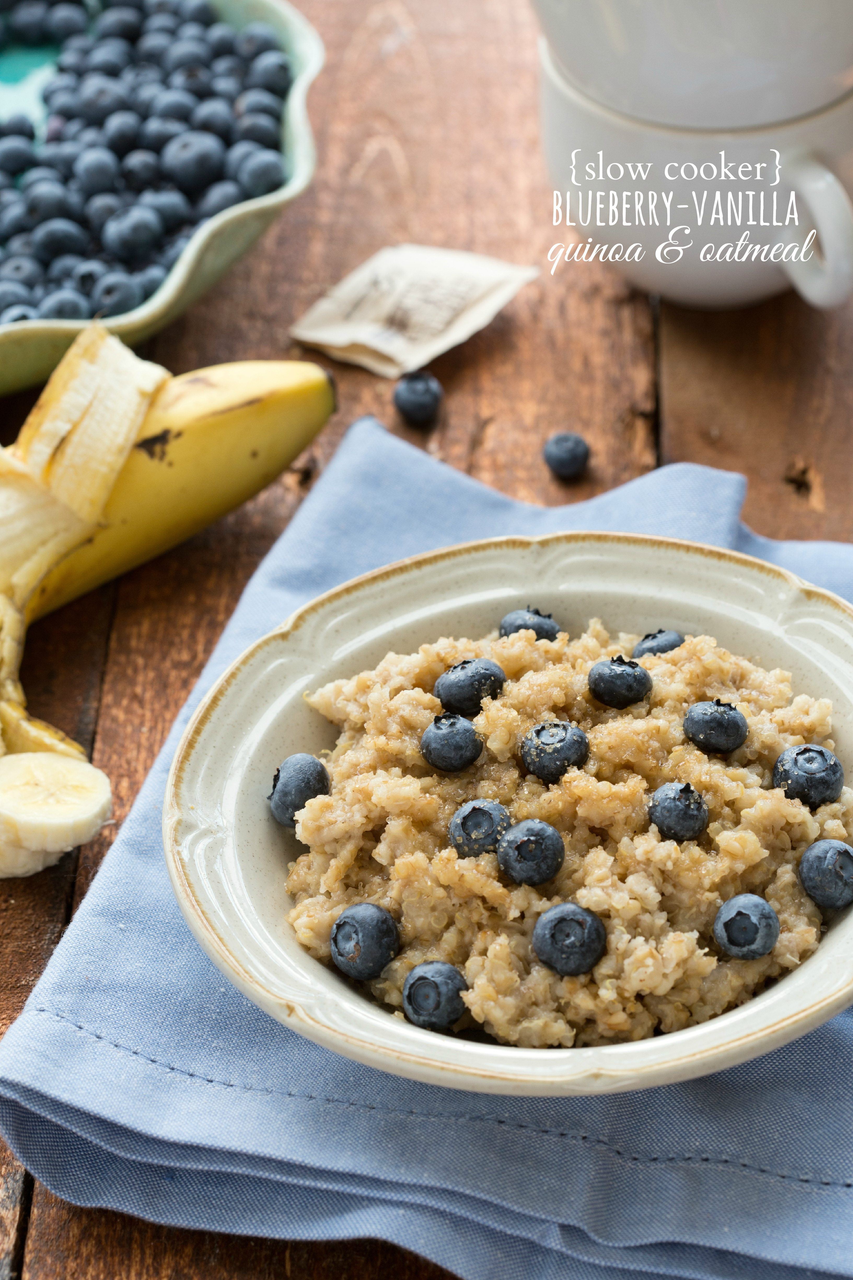 Overnight Slow Cooker Quinoa And Oats  So Good And Healthy! I Via  Chelseasmessyapron I
