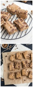 {No Bake & Healthier} Chocolate Peanut Butter Cup Cereal Bars I via chelseasmessyapron.com I #peanutbutter #chocolate #snack