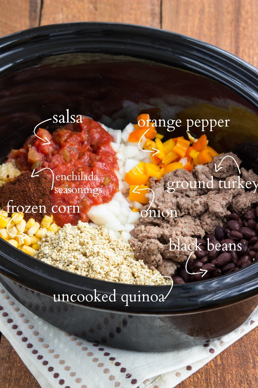 Slow Cooker Cheesy Enchilada Quinoa Bake Chelsea S Messy Apron