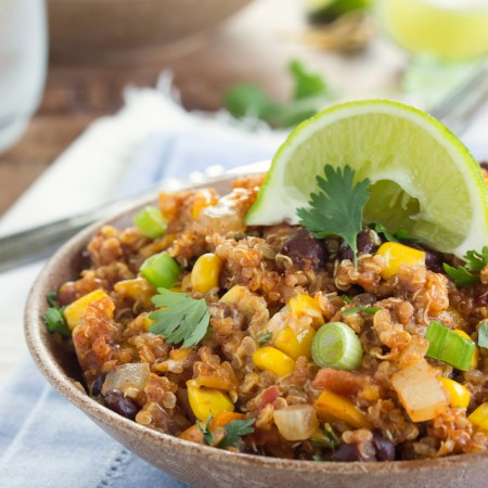 Crockpot Quinoa Enchilada Dish