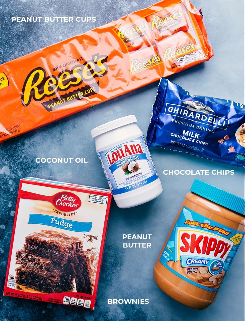 Ingredients shot-- the ingredients that go in this dessert