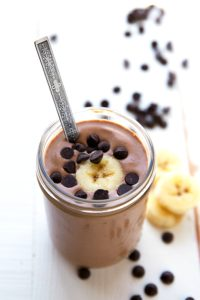 Delicious Peanut Butter Cup Smoothie (Healthy Chocolate Protein Shake!)