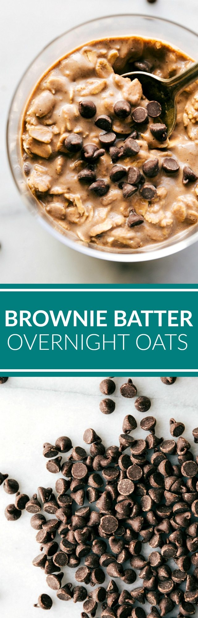 A double-chocolate, brownie flavored batch of overnight oats. These take minutes to prepare and taste so good it will be like eating dessert for breakfast. Recipe via chelseasmessyapron.com
