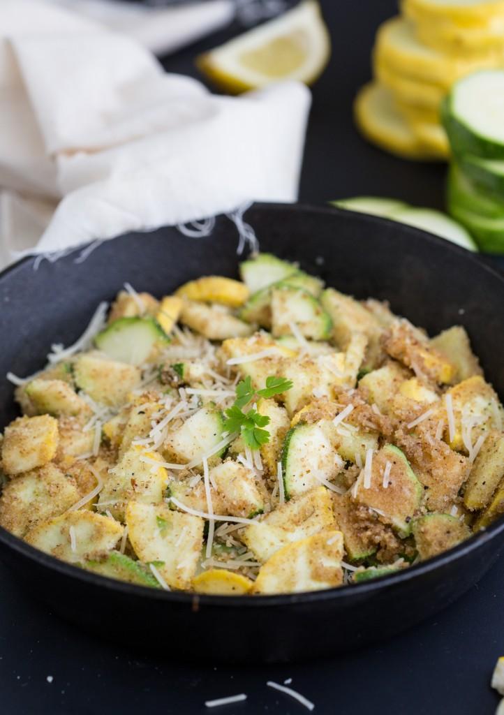 {20-minute} Parmesan-Lemon Zucchini & Summer Squash Spaghetti healthy and delicious!