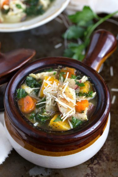 Roasted Butternut Squash, Red Potato, and Kale Soup