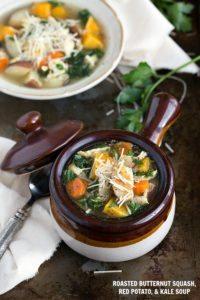 Butternut Squash, Red Potato, and Kale Soup