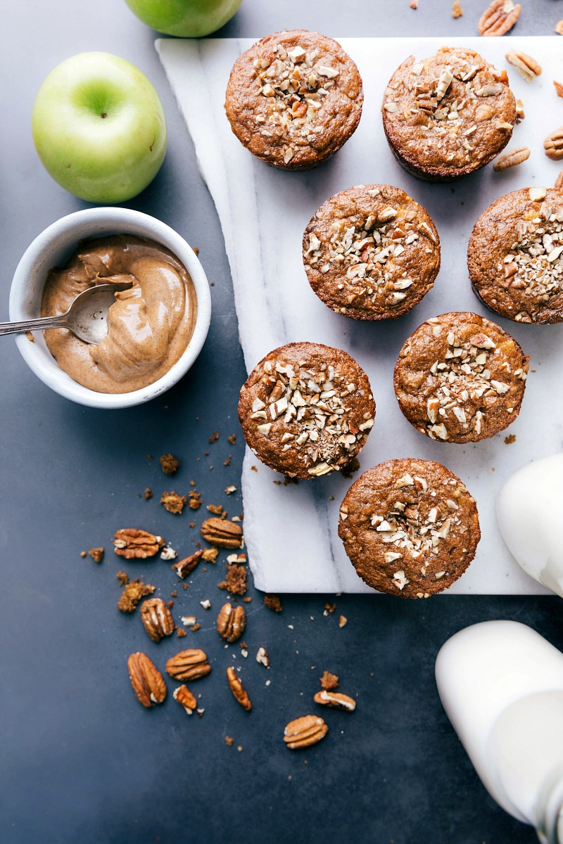 Overhead image of Gluten-Free Apple Muffins.
