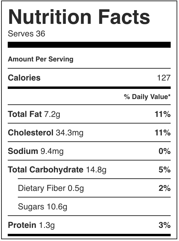 Nutrition Facts in these snickerdoodle blondies
