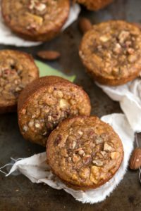 Flourless and Healthy Apple Almond Muffins