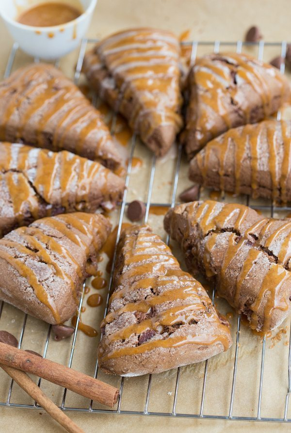 "Pumpkin Chocolate-Chip ""Cookie"" Scones I via chelseasmessyapron.com I #pumpkin #scone"