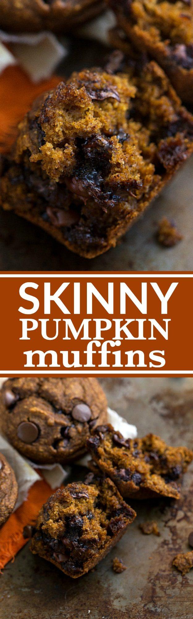 Low Calorie Pumpkin Chocolate Chip Muffins