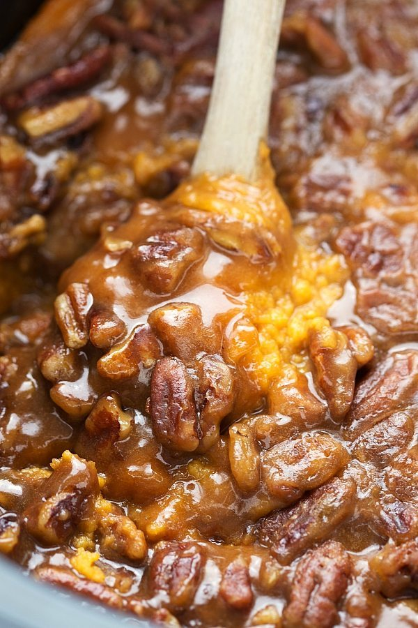 Easy (Make the Night Before) Crockpot Sweet Potato Casserole