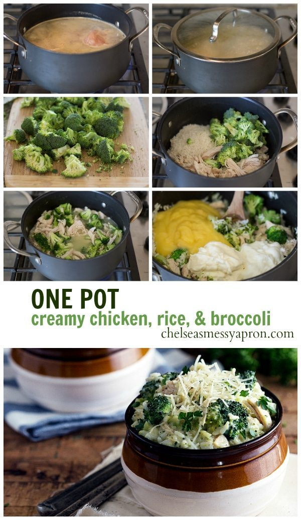 Easy, 30 minute, ONE POT Chicken divine with broccoli! #dinner #chicken #onepot #easy