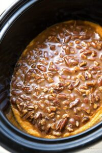 The best crockpot sweet potato casserole