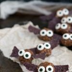 Healthy Halloween Snack - Bat Energy Bites