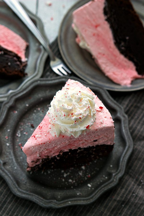 Peppermint Brownie Cheesecake