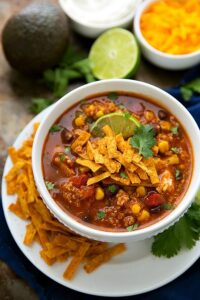 Easy Slow Cooker Mexican Tortilla Quinoa Soup