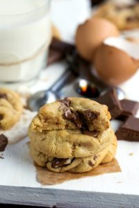 Easiest half-batch chocolate chip cookies - no mixer and one bowl!