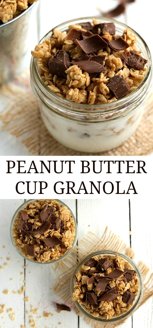Easy Peanut Butter Cup Granola