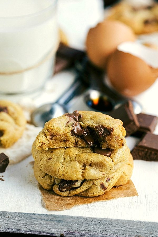 Half Batch Chocolate Chip Cookies -- easy and delicious