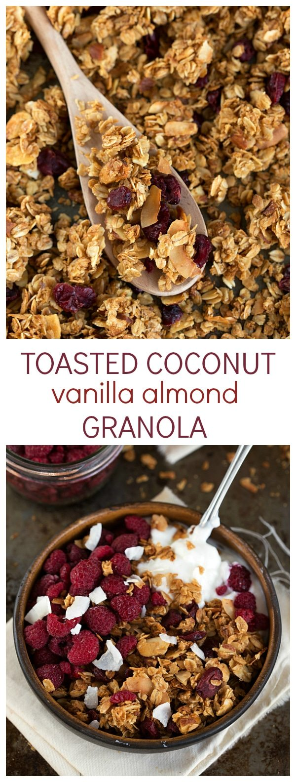 ... coconut and vanilla almond granola made with coconut oil and honey