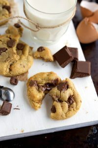 Easiest, no mixer chocolate chip cookies