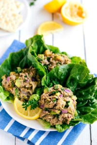 Easy and HEALTHY Avocado Tuna Lettuce Wraps