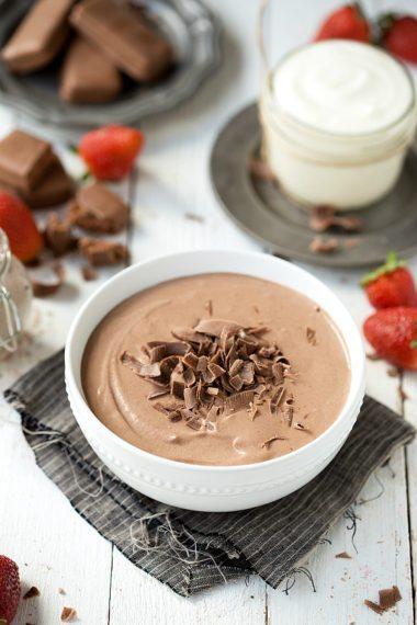 Greek yogurt brownie batter dip with no Cool Whip