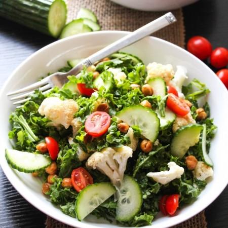 Easy Chopped Mediterranean Kale Salad