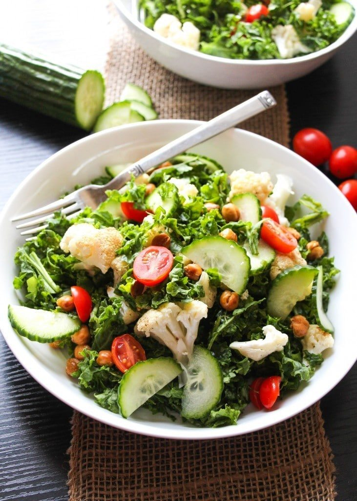 Easy Chopped Mediterranean Kale Salad