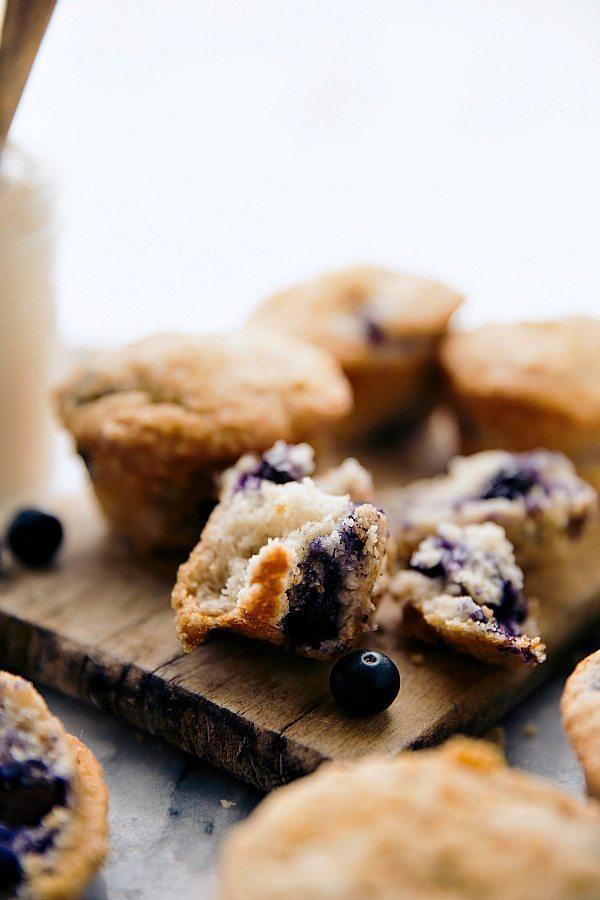 SECRET Ingredient Greek Yogurt Blueberry Muffins!