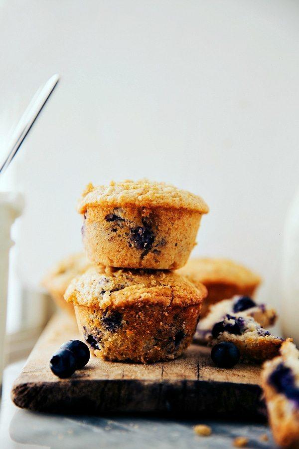 Secret Ingredient Blueberry Greek Yogurt Muffins