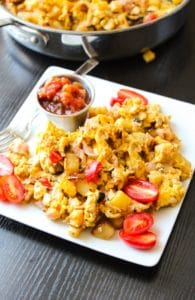 Super easy and delicious Country Breakfast Egg Skillet!