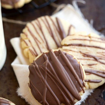 The softest chocolate covered shortbread cookies