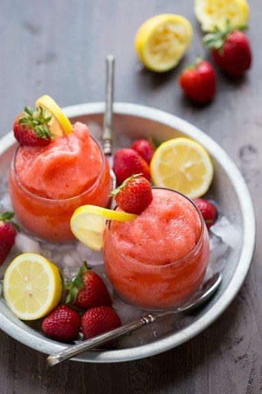 EASY Lemon-berry slushies