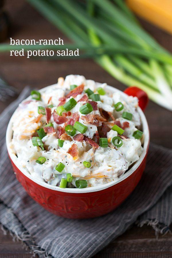 Easy Bacon Ranch Red Potato Salad