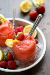 Lemon-Strawberry Slushies
