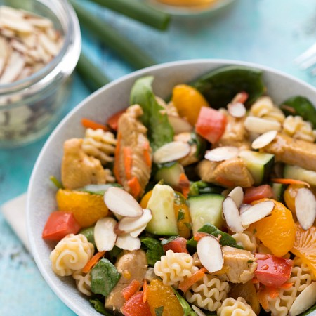 The best mandarin chicken pasta salad!