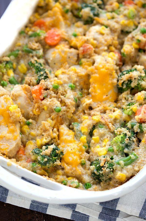 Easy & Healthy Cheddar Ranch Chicken Quinoa
