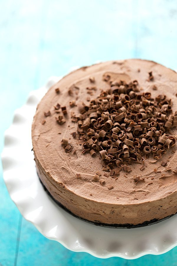 Frozen Chocolate Mousse Pie