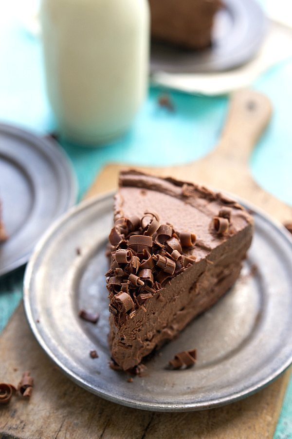 Frozen Chocolate Mousse Nutella Pie