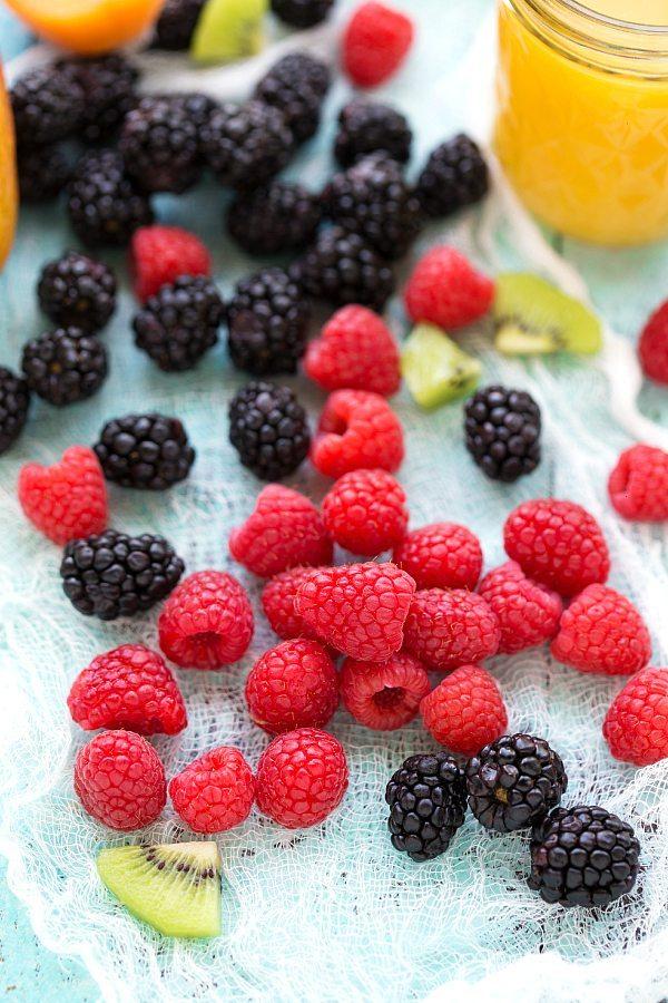 No bake healthy fruit tarts