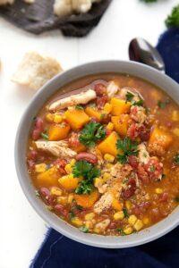 Easy Crockpot BN Squash, Chicken, and Quinoa Soup