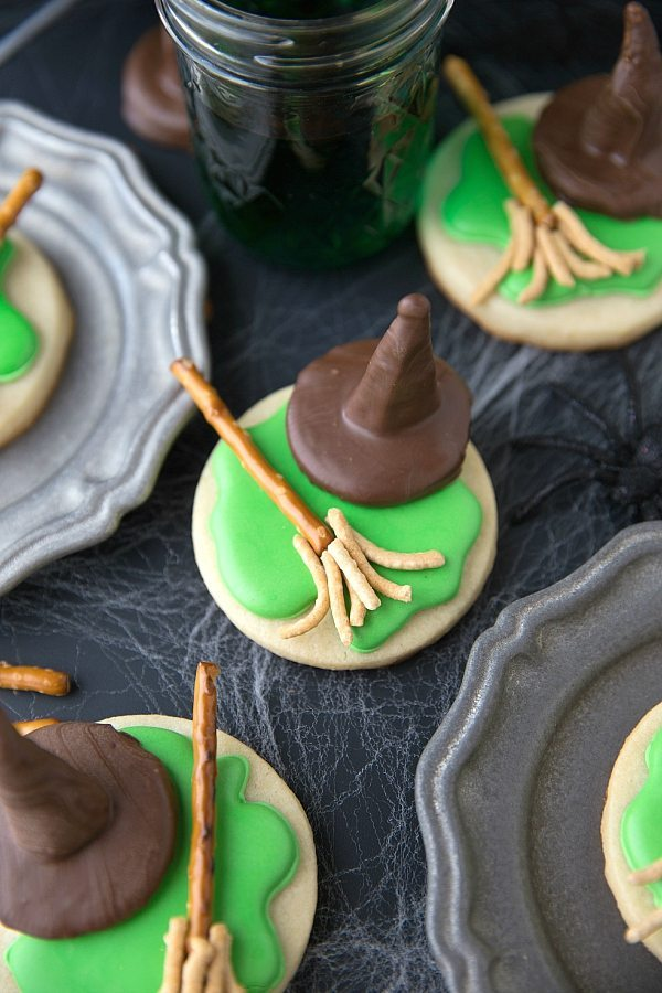 Easy Halloween Melted Witch Cookies