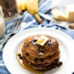 Healthy + Flourless Chocolate-Chip Oatmeal Cookie Pancakes